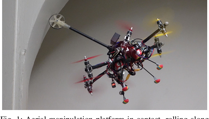Figure 1 for An Omnidirectional Aerial Manipulation Platform for Contact-Based Inspection
