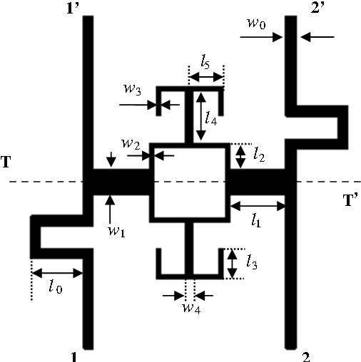 Figure 1. Configuration of the proposed wideband differential BPF.