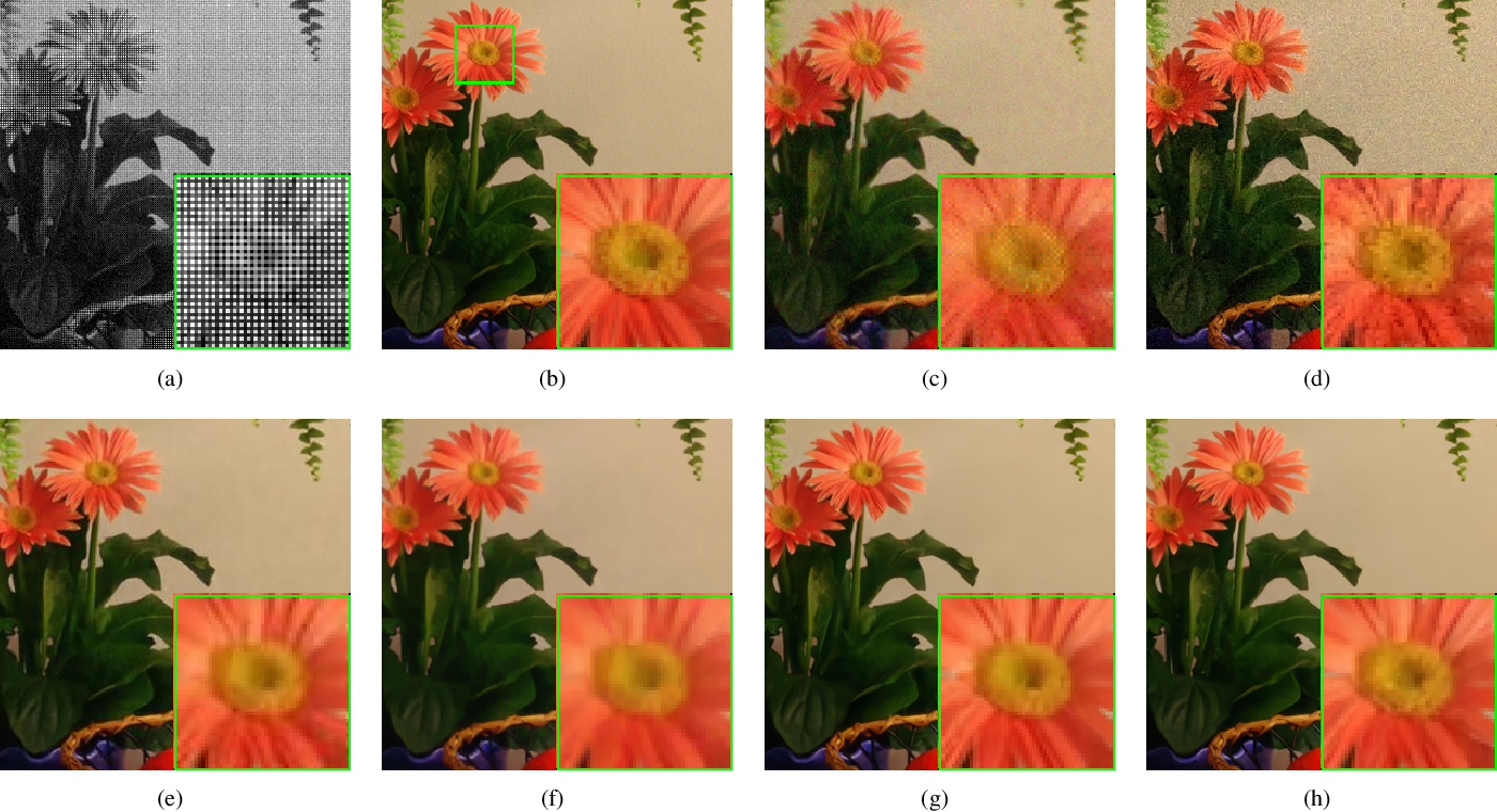Figure 2 for Joint Demosaicing and Denoising with Perceptual Optimization on a Generative Adversarial Network