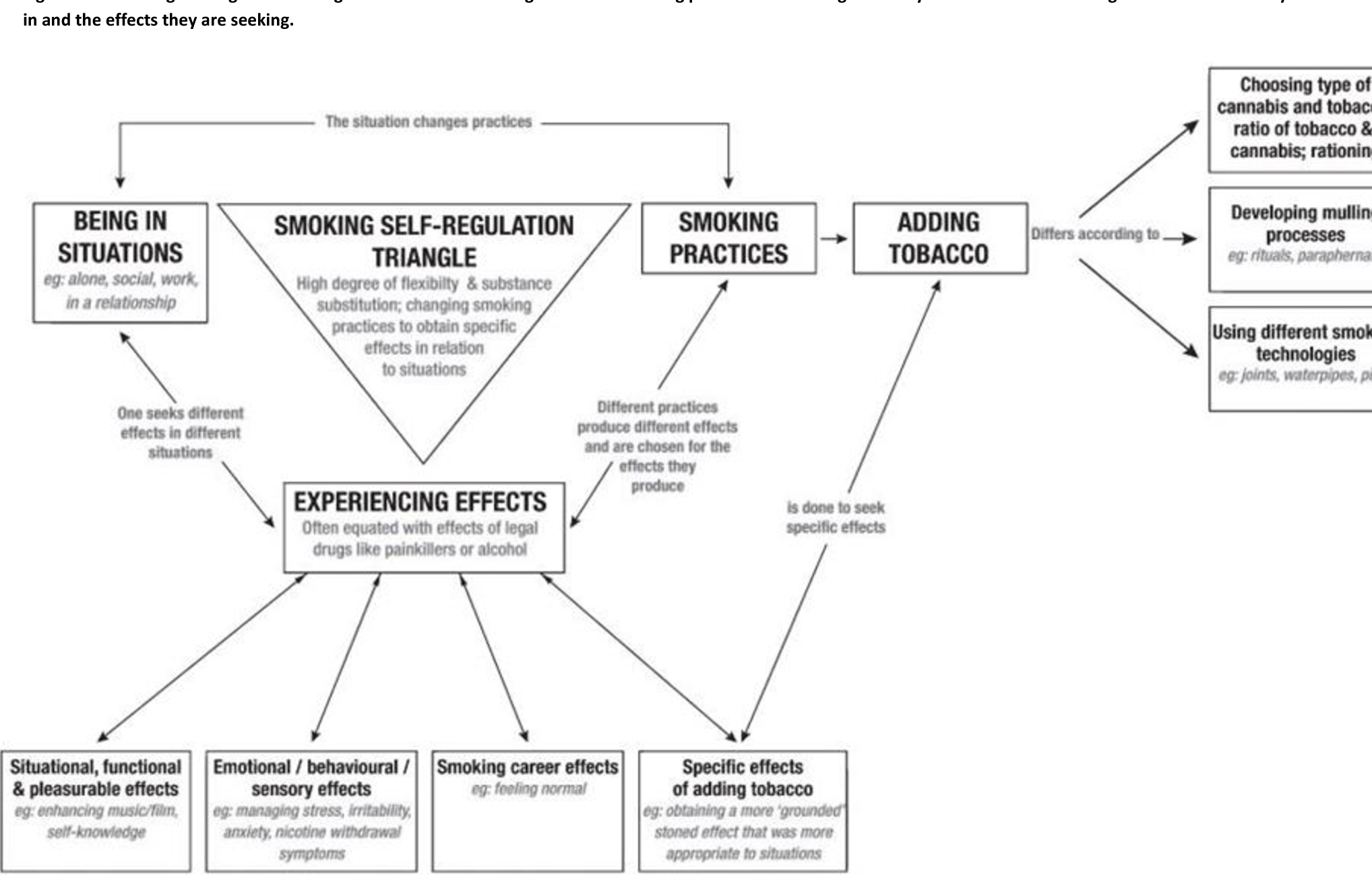Figure 1 from Smoking mull: a grounded theory model on the