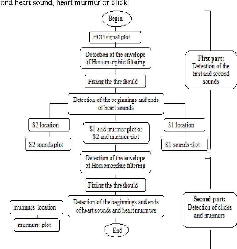 2. Algorithm of segmentation using the homomorphic filtering envelope