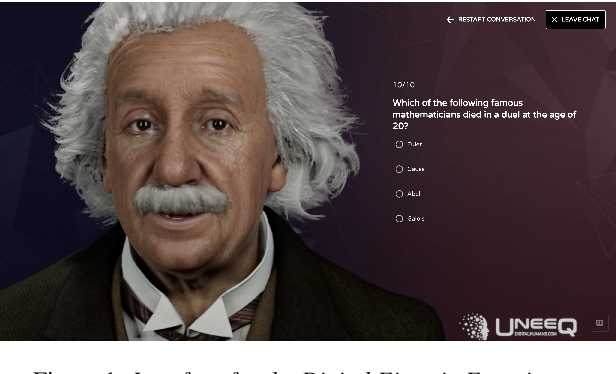 Figure 1 for Digital Einstein Experience: Fast Text-to-Speech for Conversational AI