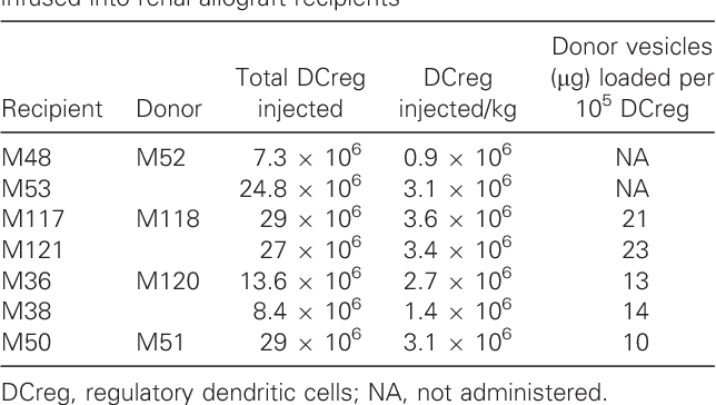 Renal Allograft Survival in Nonhuman Primates Infused With
