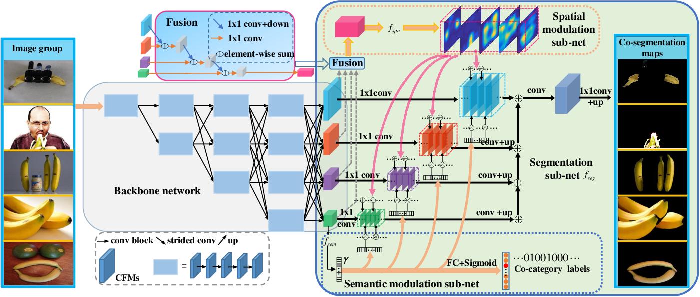 Figure 3 for Deep Object Co-segmentation via Spatial-Semantic Network Modulation
