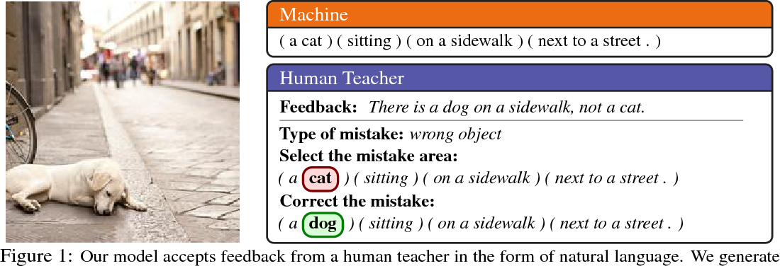 Figure 1 for Teaching Machines to Describe Images via Natural Language Feedback