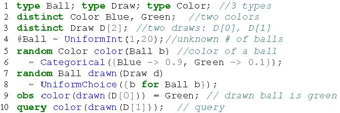 Figure 3 for Swift: Compiled Inference for Probabilistic Programming Languages