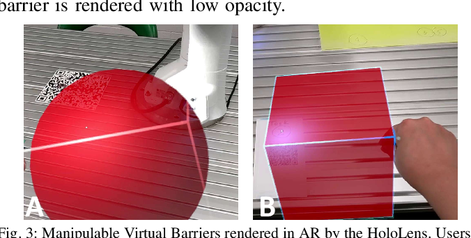 Figure 3 for Virtual Barriers in Augmented Reality for Safe and Effective Human-Robot Cooperation in Manufacturing