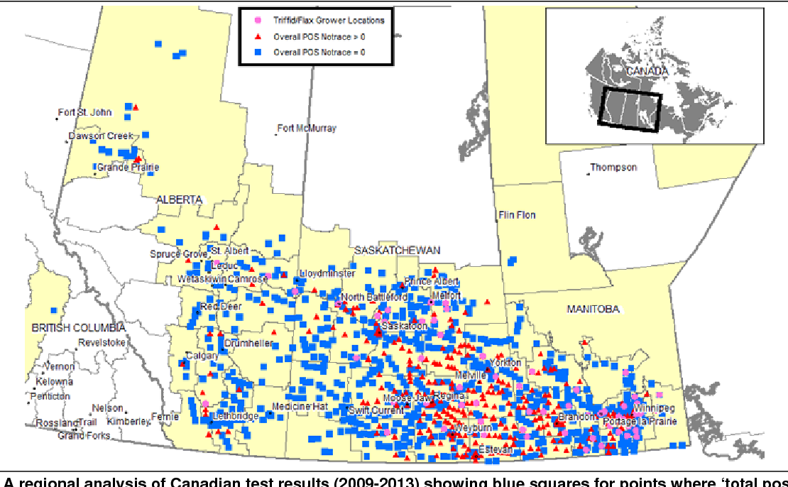 Map Of Canada Showing Kelowna.Pdf Analysis Of The Prevalence Of Cdc Triffid Transgenic Flax In