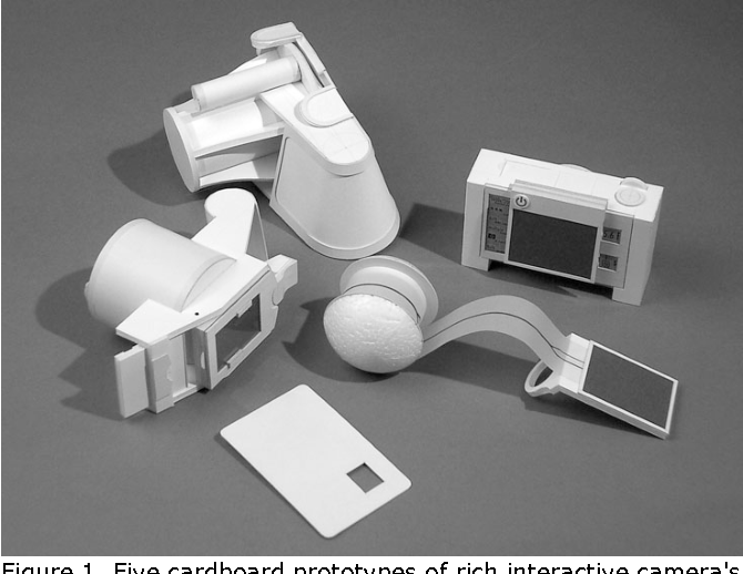 Figure 1 from Cardboard modeling studio: a designerly exploration