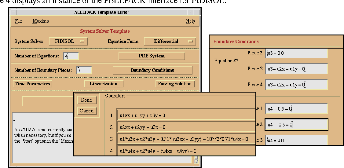 FIGURE 4. An instance of the PELLPACK interface for the FIDISOL framework