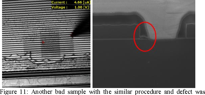 Figure 11: Another bad sample with the similar procedure and defect was found, too.