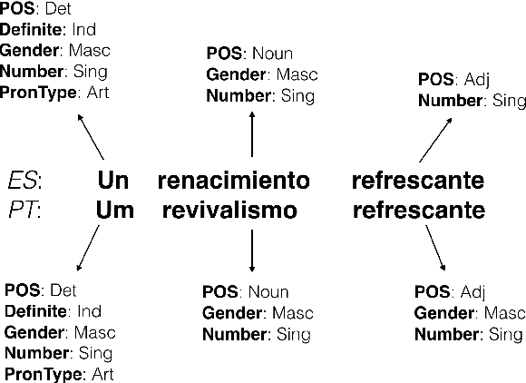 Figure 1 for Marrying Universal Dependencies and Universal Morphology