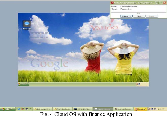 Fig. 4 Cloud OS with finance Application