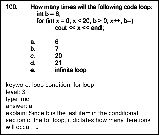 Figure 3 from A Question Generator for an Online Tutoring