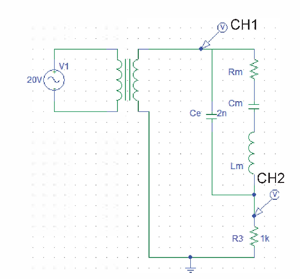 Fig. 10 Schematic circuit diagram showing the use of a high-frequency transformer to step up the sinusoidal voltage of the signal generator to a higher voltage level to drive the PUT for studying its non-linear behaviour.
