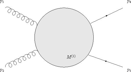 Figure 1: Gluon amplitude for heavy quark production