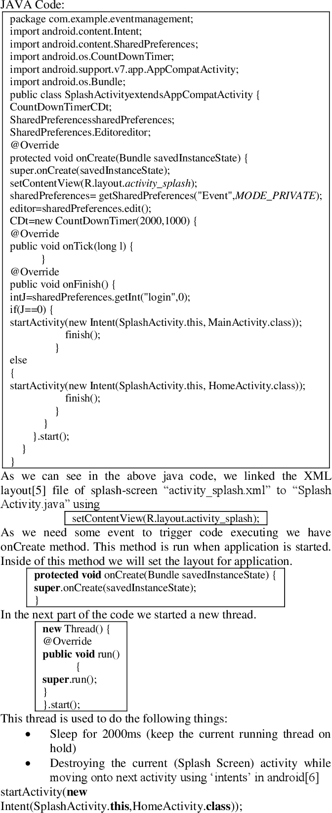 PDF] Design and Implementation of an Android Application for