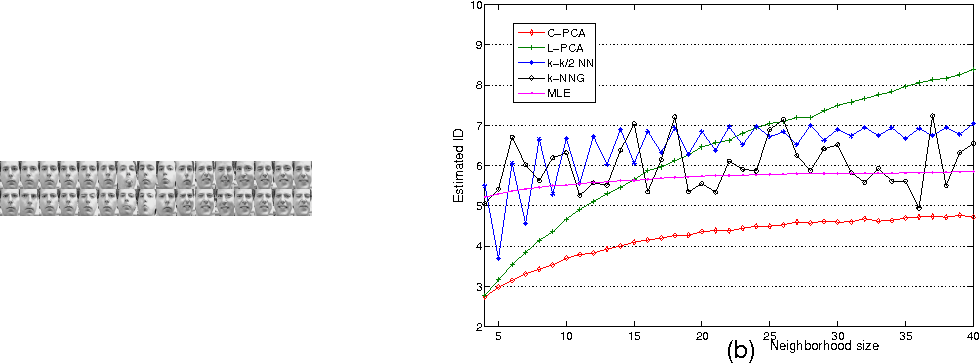 Figure 3 for Intrinsic dimension estimation of data by principal component analysis