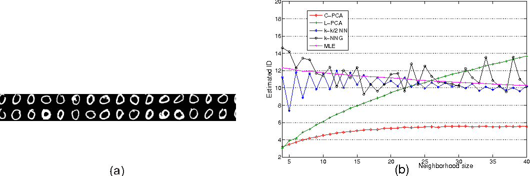 Figure 4 for Intrinsic dimension estimation of data by principal component analysis