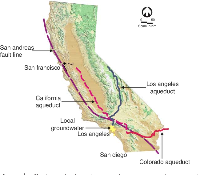 Figure 2 from Los Angeles water supply impacts from a M7.8 San ... on
