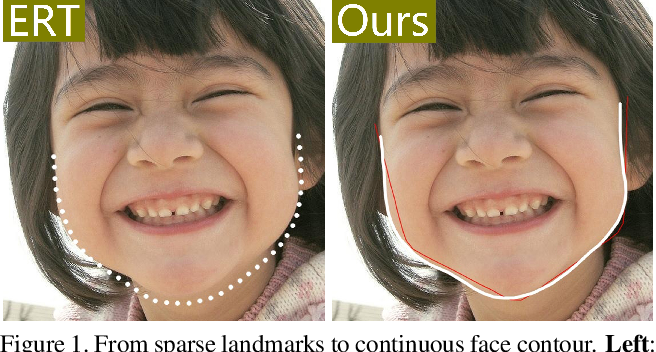 Figure 1 for L2GSCI: Local to Global Seam Cutting and Integrating for Accurate Face Contour Extraction