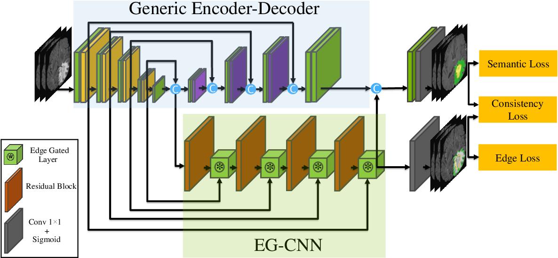 Figure 1 for Edge-Gated CNNs for Volumetric Semantic Segmentation of Medical Images