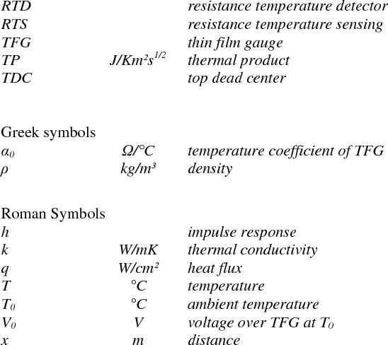 Comparison Of Heat Flux Sensors For Internal Combustion Engines On