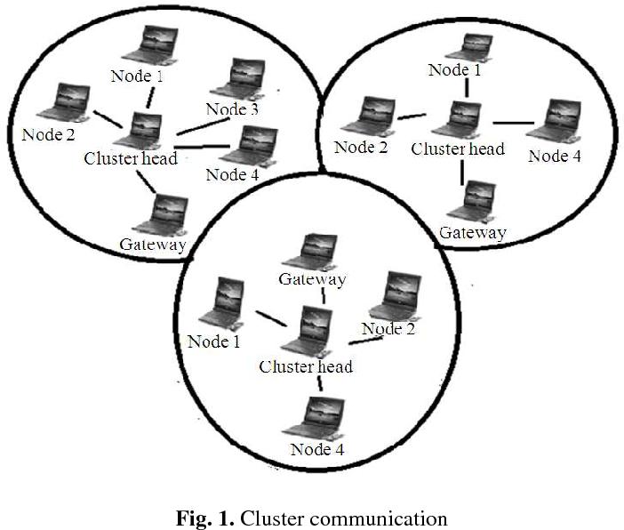 Fig. 1. Cluster communication