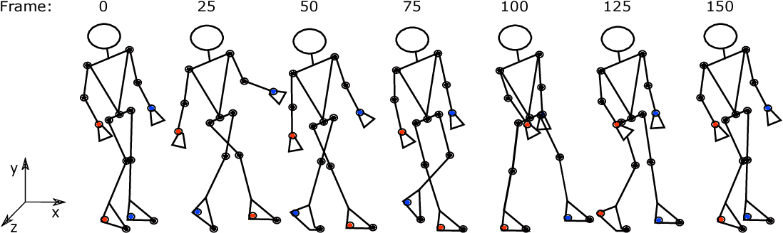 Figure 1 for Gait Recognition from Motion Capture Data