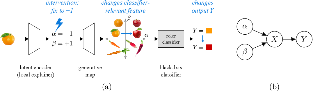 Figure 1 for Generative causal explanations of black-box classifiers