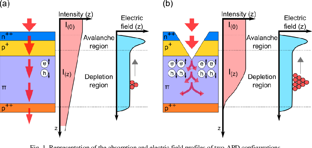 Figure 1 for Avalanche Photodetectors with Photon Trapping Structures for Biomedical Imaging Applications