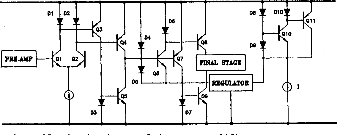 figure 15: circuit diagram of the power anplifier