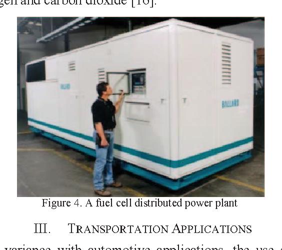 Application areas of fuel cells - Semantic Scholar