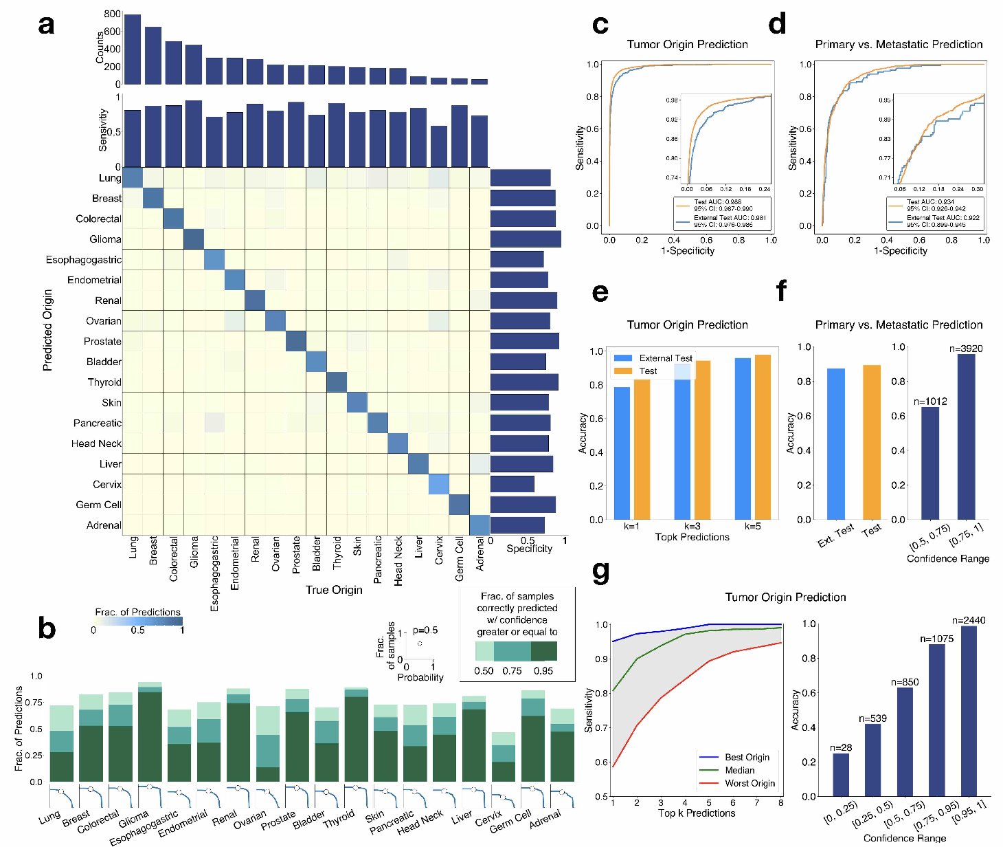Figure 3 for Deep Learning-based Computational Pathology Predicts Origins for Cancers of Unknown Primary