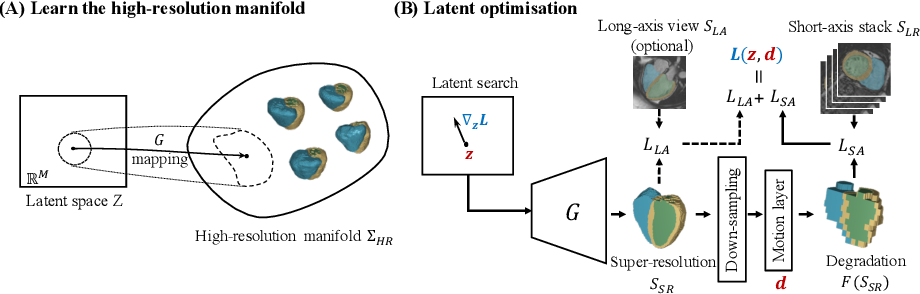 Figure 3 for Joint Motion Correction and Super Resolution for Cardiac Segmentation via Latent Optimisation