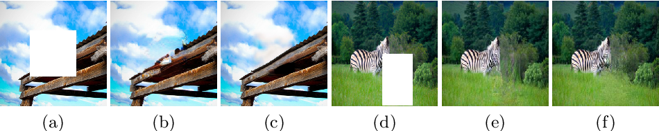 Figure 1 for Contextual-based Image Inpainting: Infer, Match, and Translate