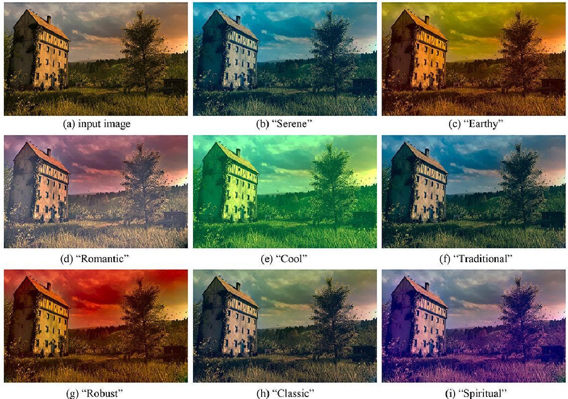 Figure 2 for Image color transfer to evoke different emotions based on color combinations