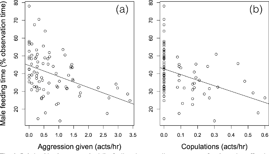 Figure 3 from The Foraging Costs of Mating Effort in Male