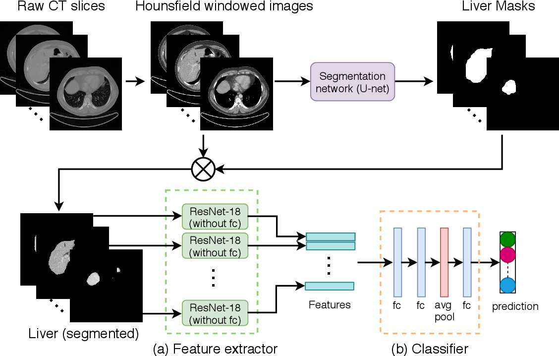 Figure 1 for Deep Learning based NAS Score and Fibrosis Stage Prediction from CT and Pathology Data