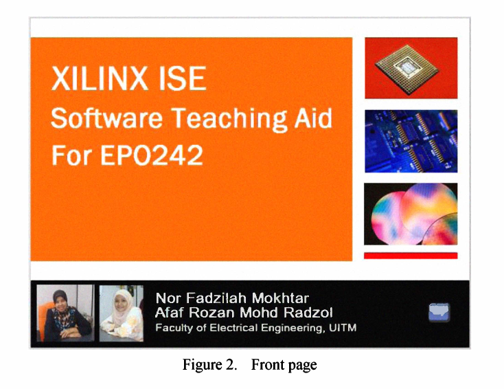 Figure 2 from Xilinx ISE software teaching aid for Diploma's