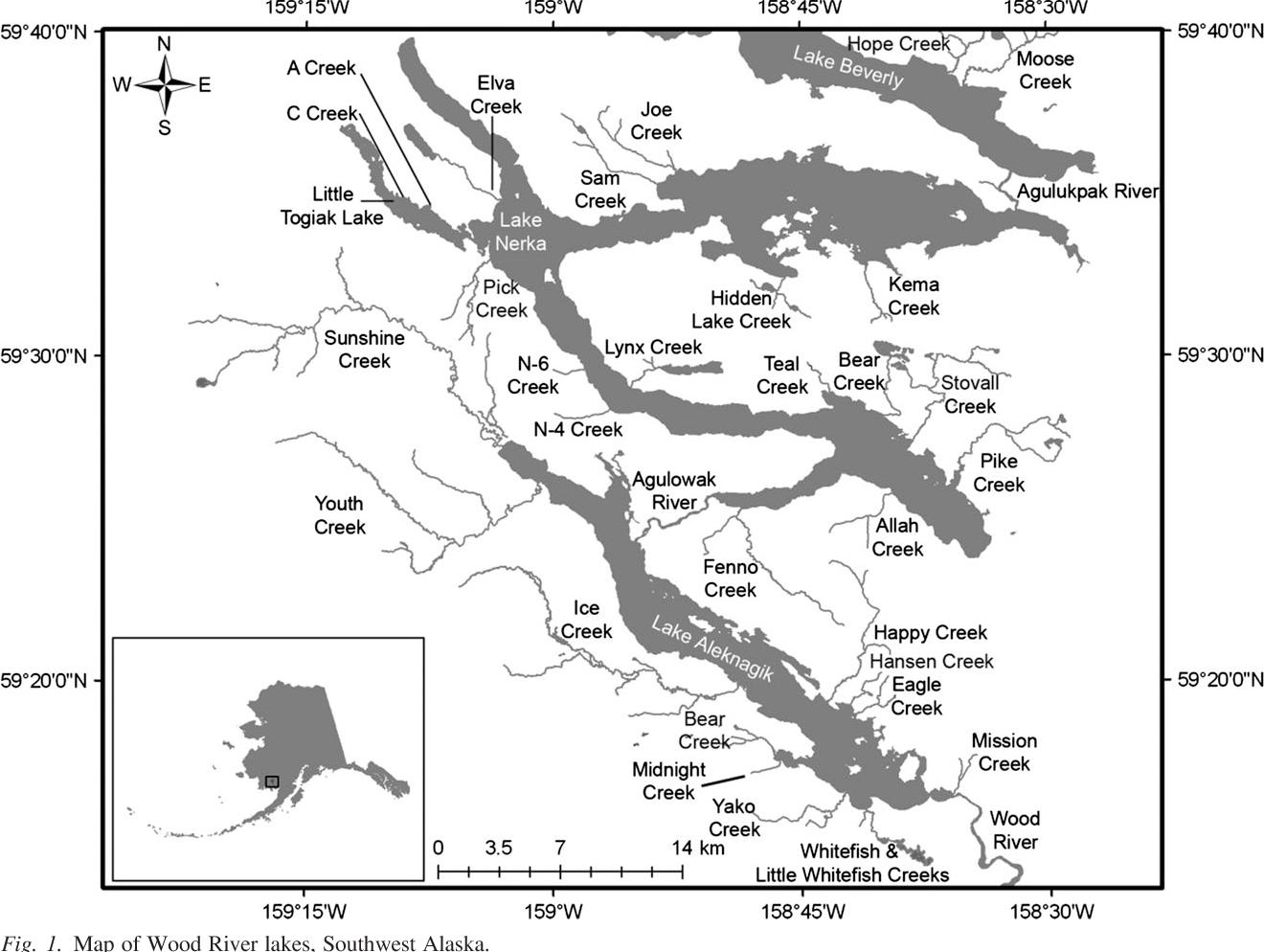 Figure 1 From Freshwater Habitat Associations Between Pink