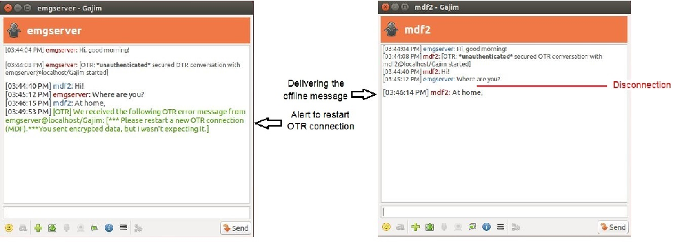 Figure 2 from O2TR: Offline Off-the-Record (OTR) Messaging