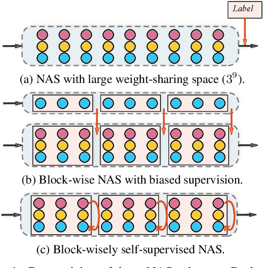 Figure 1 for BossNAS: Exploring Hybrid CNN-transformers with Block-wisely Self-supervised Neural Architecture Search