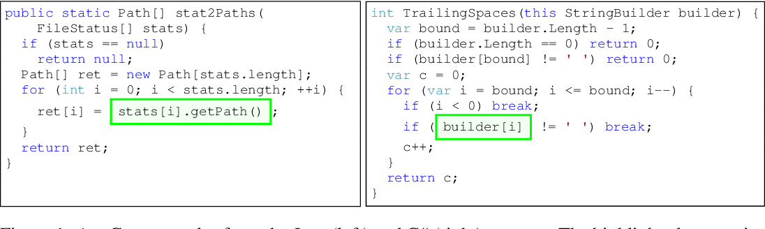 Figure 1 for Structural Language Models for Any-Code Generation