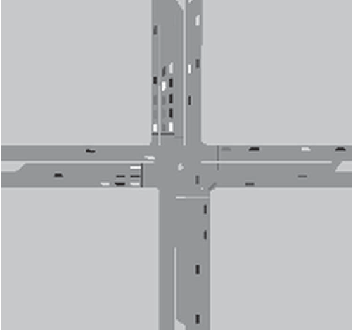 Fig. 4. Isolated intersection used in the experiment.