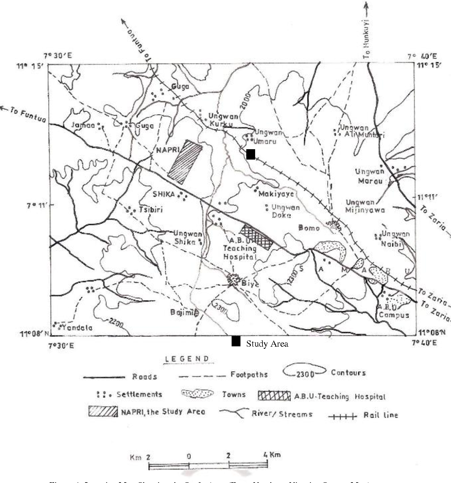 Figure 1 Location Map Showing The Study Area From Northern Nigerian Survey