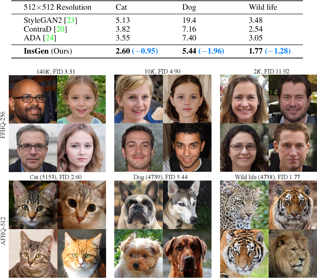 Figure 3 for Data-Efficient Instance Generation from Instance Discrimination