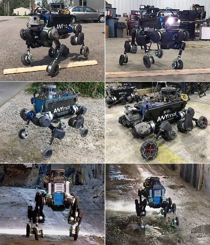 Figure 1 for Rolling in the Deep -- Hybrid Locomotion for Wheeled-Legged Robots using Online Trajectory Optimization