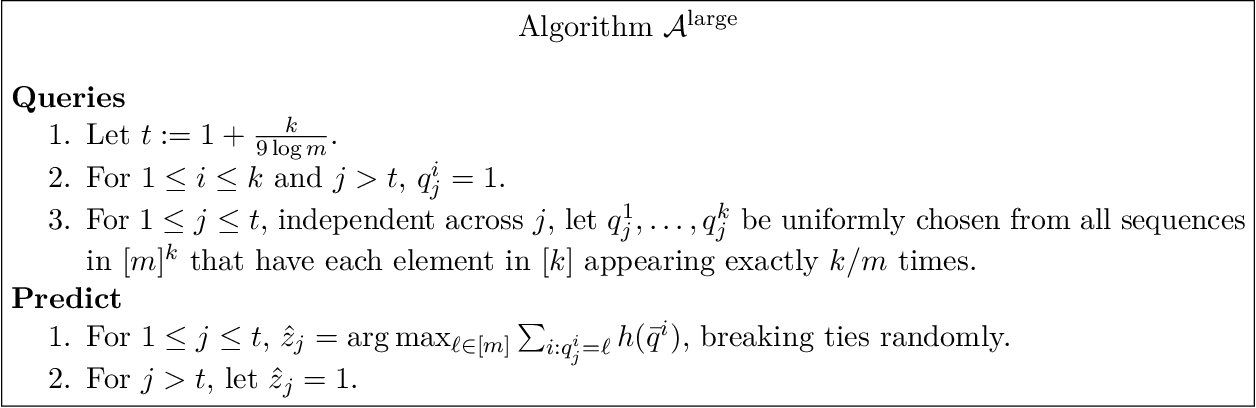 Figure 3 for Optimal multiclass overfitting by sequence reconstruction from Hamming queries