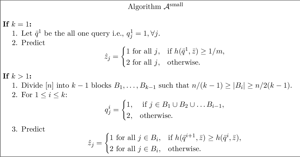 Figure 2 for Optimal multiclass overfitting by sequence reconstruction from Hamming queries